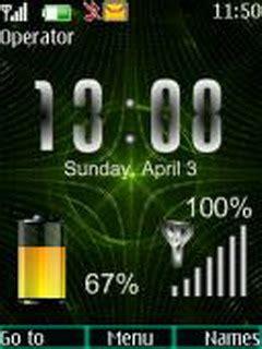 themes nokia 6300 battery clock download matrix battery clock nokia theme mobile toones