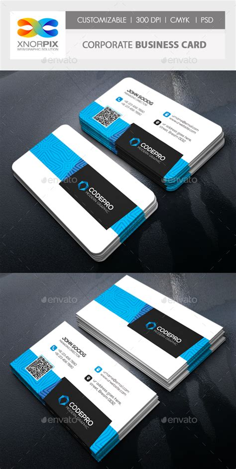 interactive business card template corporate business card by axnorpix graphicriver