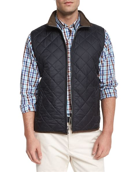 Mens Quilted Vests by Millar Potomac Quilted Vest In Black For Lyst