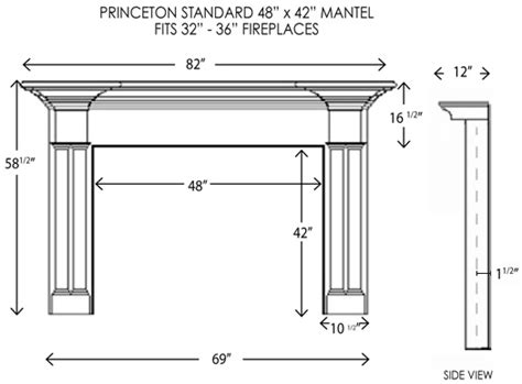 Fireplace Hearth Depth by Wood Fireplace Mantels Princeton Standard Fireplace