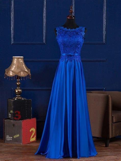 royal blue boat neck dress royal blue burgundy boat neck lace satin long evening