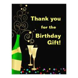 thank you custom birthday gift thank you cards invitation zazzle