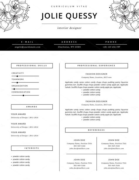 Fashion Designer Sle Resume by Pi 249 Di 25 Fantastiche Idee Su Fashion Resume Su Layout Cv E Modello Cv