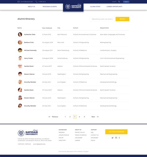 Alumni Database Template Sayidan University Alumni Psd Template By Peterdraw Themeforest
