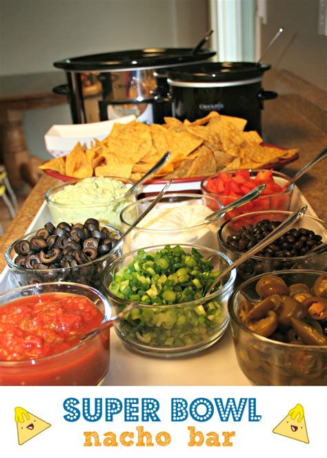 toppings for nacho bar super bowl nacho bar the magical slow cooker
