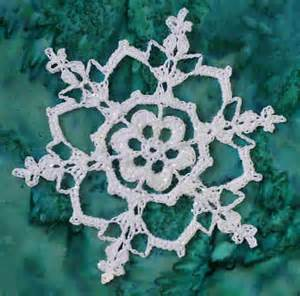 And finally a classic crochet snowflake pattern from snowcatcher