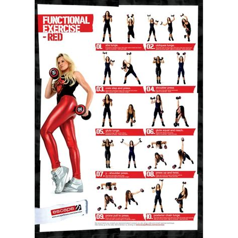 Free dumbbell workout poster information on happy healthy news