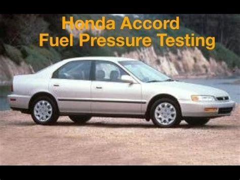 Fuel Honda Accord Maestro Injektion honda accord fuel pressure testing