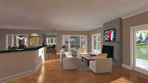 Living and Dining Room Architectural Renderings From CastleView3D.com