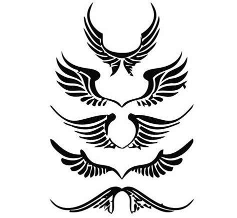 angel wing clip art free vector of angel wings tattoo free