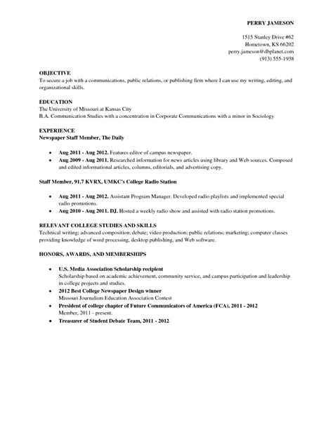 Sample Resume Objectives College Students by College Graduate Resume Template Health Symptoms And