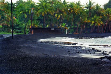 picture photo black sand beach at punaluu big island punaluu black sand beach big island 7 handsome beaches of