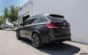 matte black bmw x5 m with some aftermarket goodies