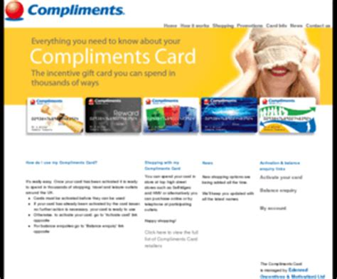 Edenred Gift Card - complimentscard co uk edenred compliments card