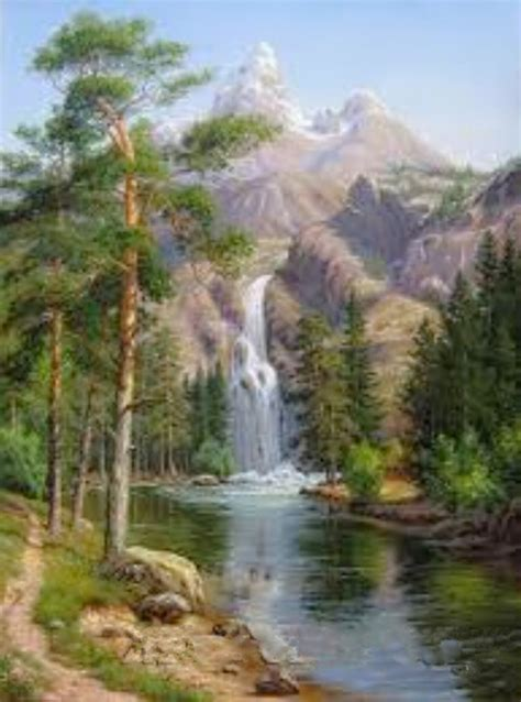 digital oil painting diy landscape painting by numbers
