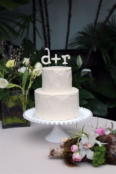 Clean And Simple Buttercream Wedding Cake With Gum Paste