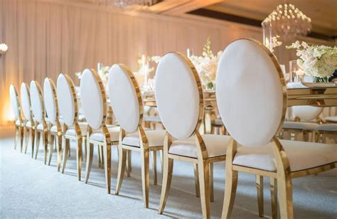 Gold Rim Arabella Chairs   Designer Chair Covers To Go