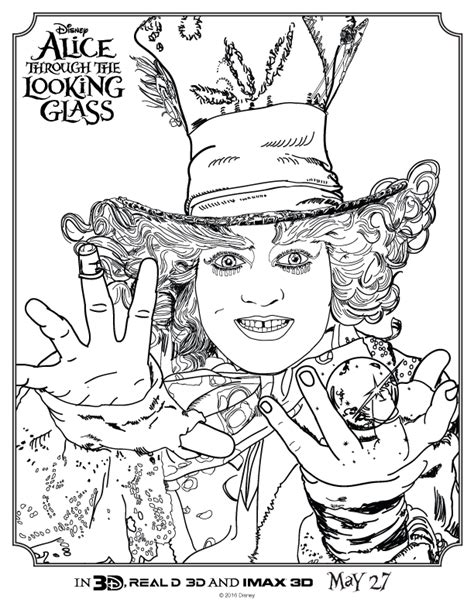 free coloring pages of mad hatter