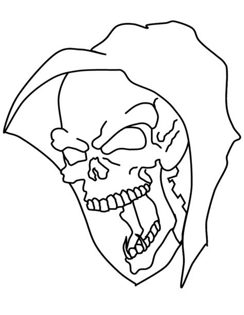 skull coloring page evil skulls coloring pages
