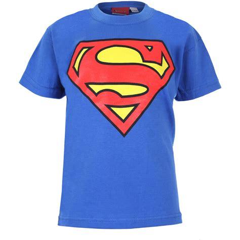 Collection Lany Tshirt Logo Superman dc comics boys superman logo t shirt royal blue merchandise zavvi