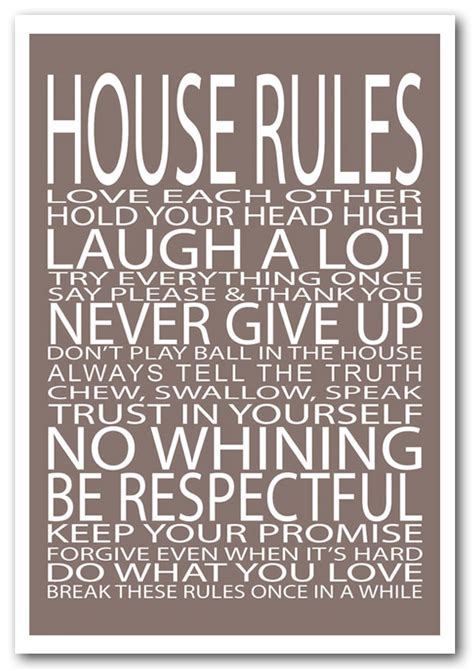 family house rules framed print house rules love each other beige text quotes framed art