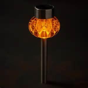 solar garden stake lights 2 orange led stainless steel solar stake lights
