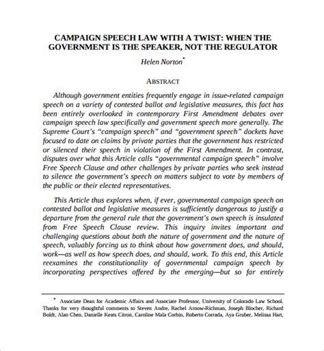 Political Speech Template