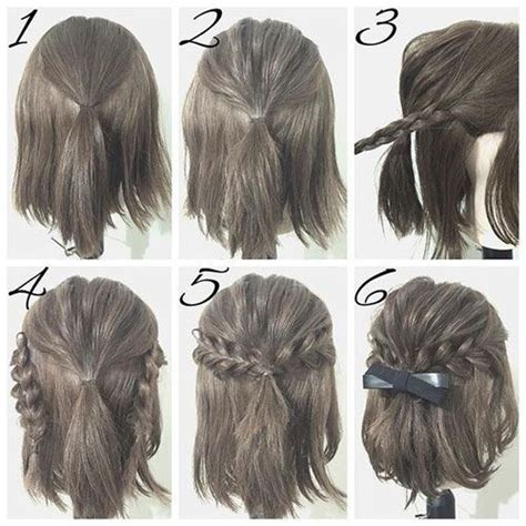 quick easy casual hairstyles ideas half up hairstyle tutorials for short hair hacks