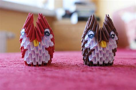 Modular Origami Owl - modular origami mini owl by kleinalaine on deviantart