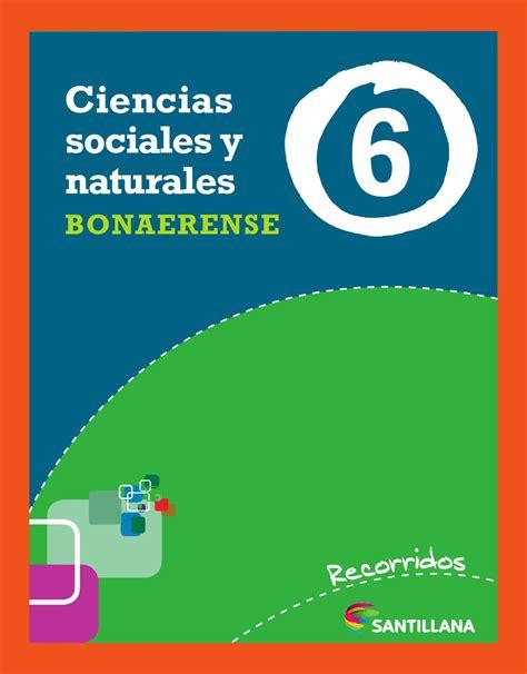 santillana quinto ao libro recorridos santillana ciencias sociales y naturales 6