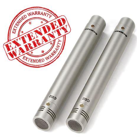 Samson C02 Pencil Condenser Microphones samson c02 pencil condenser microphone pair geartree