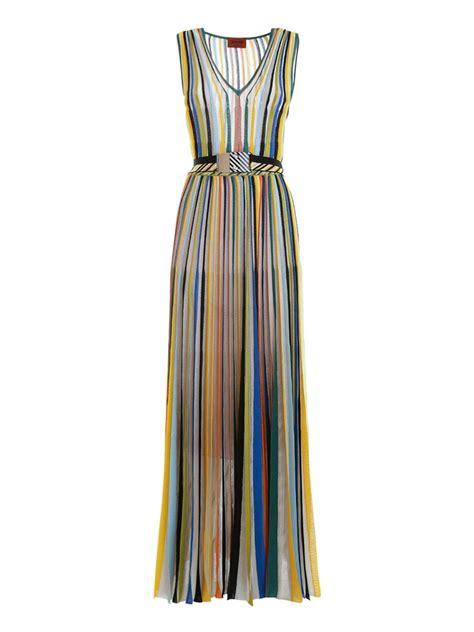Sleeveless Vertical Stripe Dress Import belted striped maxi dress by missoni maxi dresses ikrix