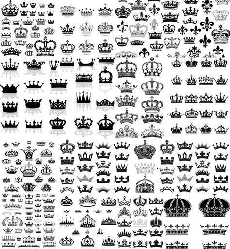 design royalty meaning black crown big collection with different numbers of