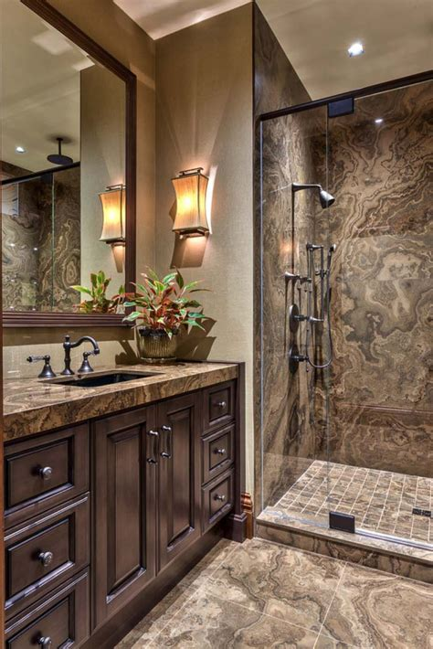 bathroom granite countertop stain 21 gorgeous contemporary bathrooms featured in mountain retreats gray wood stains brown