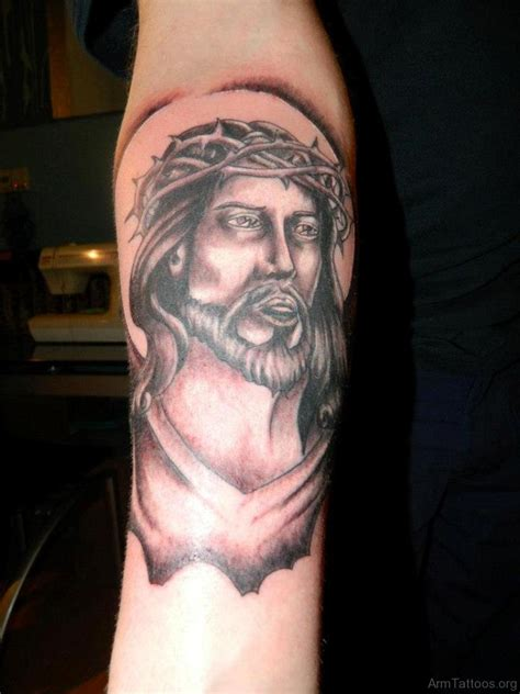 jesus face tattoo designs 72 jesus tattoos for arm