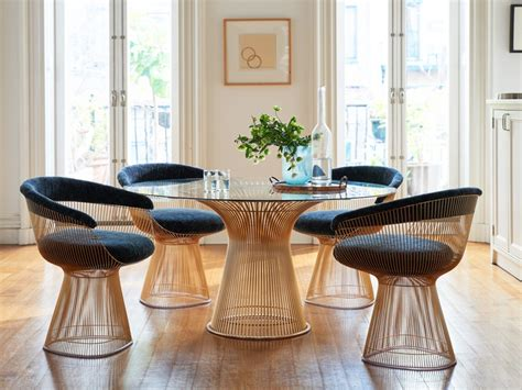 warren platner dining knoll platner gold dining table by warren platner chaplins