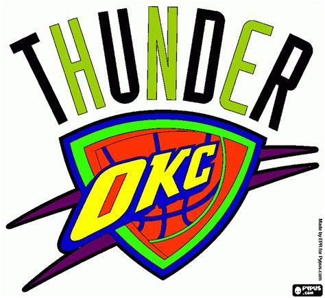 okc thunder logo drawing