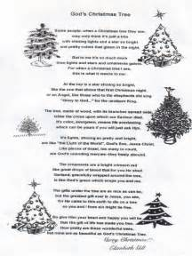christmas poem quot god s christmas tree quot christian country