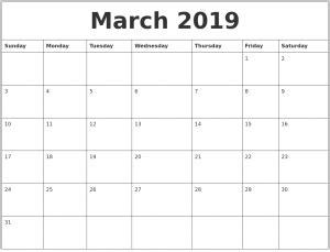 march 2019 calendar with holidays   calendar for 2019