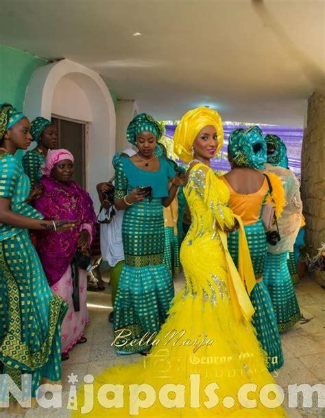 brides maid on yellow from bellanaija 0077 aisha mustapha nigerian muslim wedding george okoro