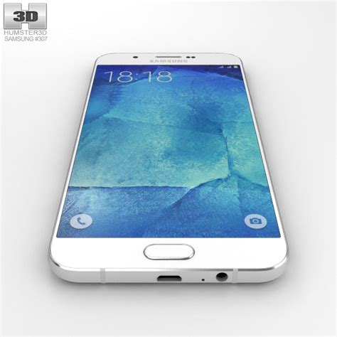 Samsung A8 White samsung galaxy a8 pearl white 3d model humster3d
