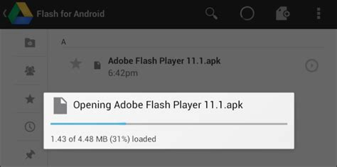 how to open a apk file and install adobe flash player 11 1 on nexus 7