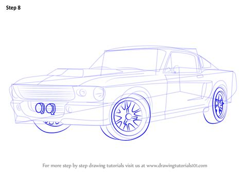 how to draw a car 8 steps with pictures wikihow learn how to draw a 1968 mustang sports cars step by