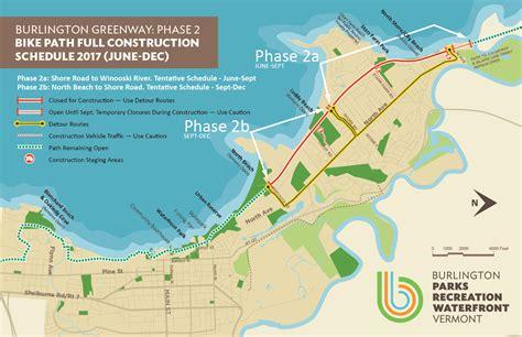 burlington vt map burlington greenway phase 2 bike path rehabilition