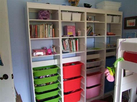 toy storage bookcase with tubs trofast tub shelf combo playroom ideas pinterest