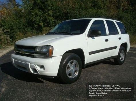 auto air conditioning service 2004 chevrolet blazer engine control sell used 2004 chevy trailblazer 4x4 ls 1 owner corporate lease all service records carfax in