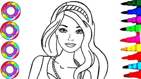 barbie rainbow coloring pages coloring drawings barbie fashionistas with rainbow sparkle