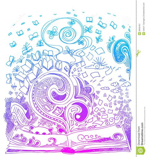 free doodle book book sketch doodles vector stock vector illustration of