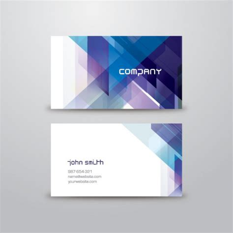 free template business cards abstract business card template vector free