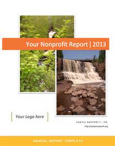 Nonprofit Annual Report Outline by Annual Report Template For Nonprofits